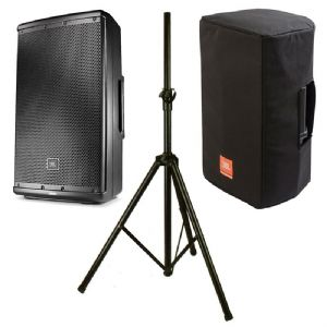 "JBL EON612 1000W Powered Active 12"" PA Speaker + Cover + Stand + 2Yr Warranty"